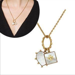 NIB Tory Burch Gold Heart Necklace